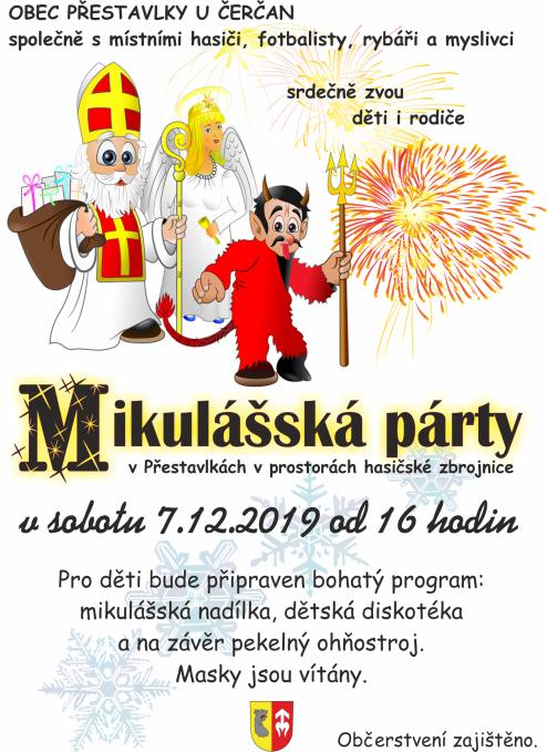 plakát mikulášská párty