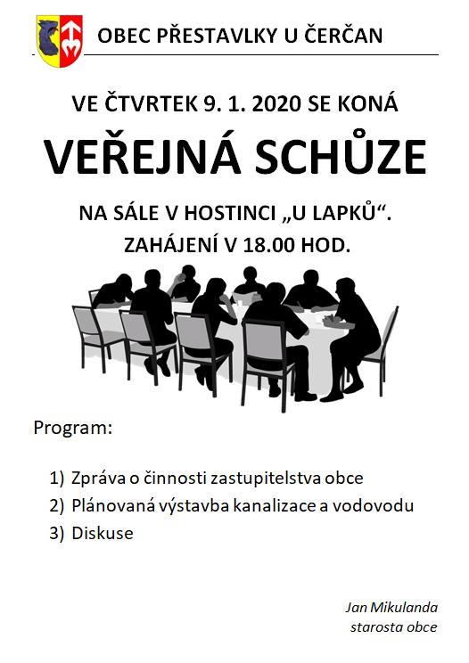 plakát veřejná schůze